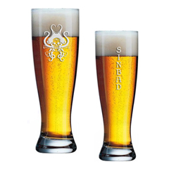 Beer Tats Wheat Beer Glass